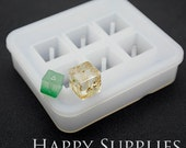 1 Set Silicone Mold For Beads- Cube Bead - 12mm / 16mm Square- DIY Resin Bead  (BM044)