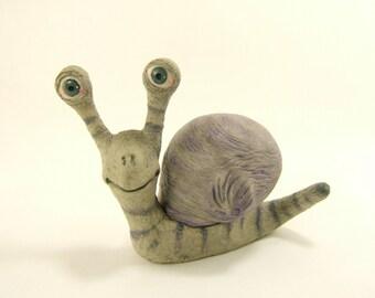 Snail Polymer Clay Sculpture