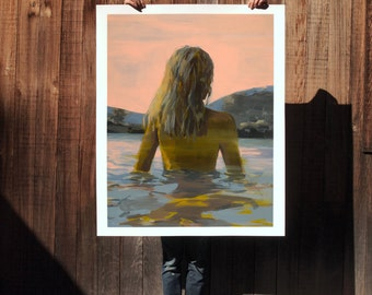 Endless Summer .  extra large wall art . giclee print