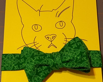 Cat Bow Tie - Celtic Green