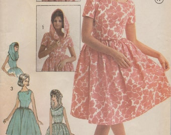 Advance 3171 / Vintage 60s Sewing Pattern / Dress And Infinity Scarf Stole Shawl / Size 14 Bust 34