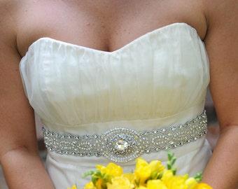 Nikita Wedding Bridal Dress Gown Beaded Jeweled Crystal Belt Sash