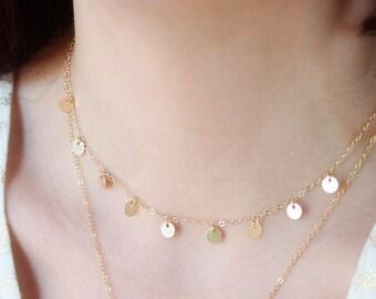 Delicate Gold Choker, Gold Dainty Choker Necklace, Simple Gold Choker, Dainty Chain, Gold Filled Choker