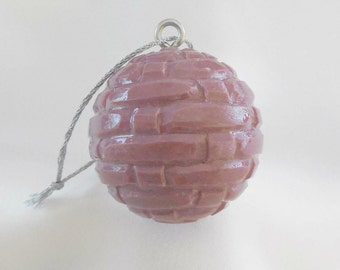 Easter Decor, Carved Golf Ball, Christmas Ornament, Unique Golf Gift for Golfer, Purple Christmas Ornament, Hand Carved Ornament