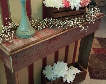 Hall Table / Console Table / Farmhouse Furniture / Barn wood Furniture / Living room furniture / Entry table / Rustic Table / wedding gift