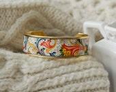 Women's Floral Cuff Bracelet - Fall Floral