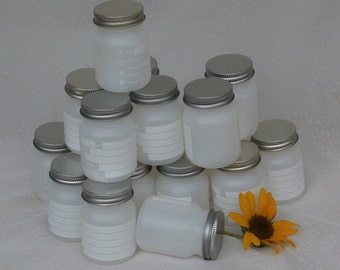 18 Plastic Containers with Metal Lids, 3 Ounce Bottles or Jars for Craft Supplies
