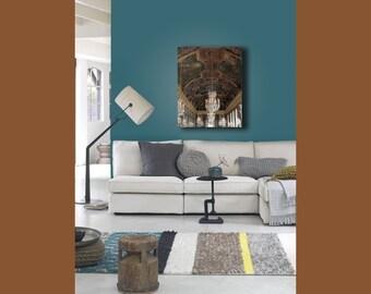 Large Canvas Art, Chandelier Wall Art, Versailles, Chandelier Canvas, Paris Decor on Canvas