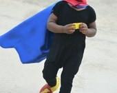 Kid's Blue and Red superhero cape - plain superhero gift - birthday party gift