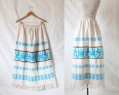 RESERVED ITEM Vintage Bohemian Embroidered Festival Skirt