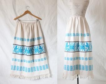Vintage Bohemian Embroidered Festival Skirt
