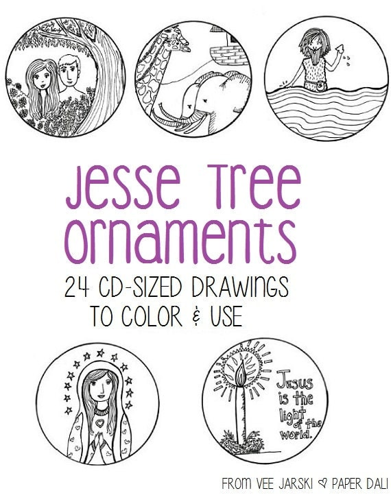 Ridiculous image within jesse tree ornaments printable