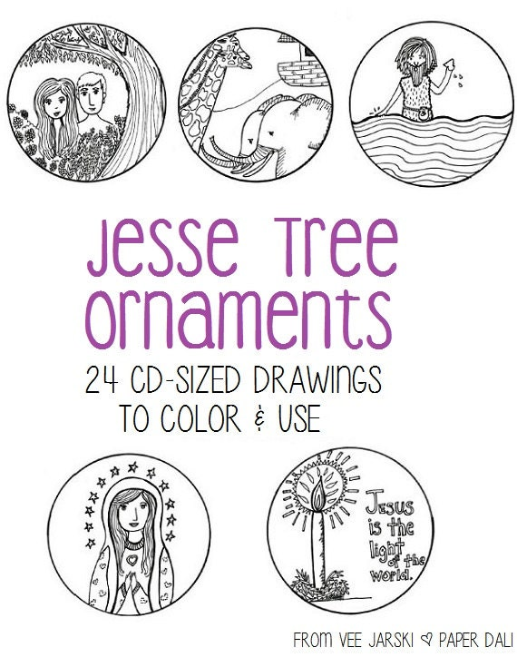 Jesse Tree Ornaments for Advent by paperdali on Etsy