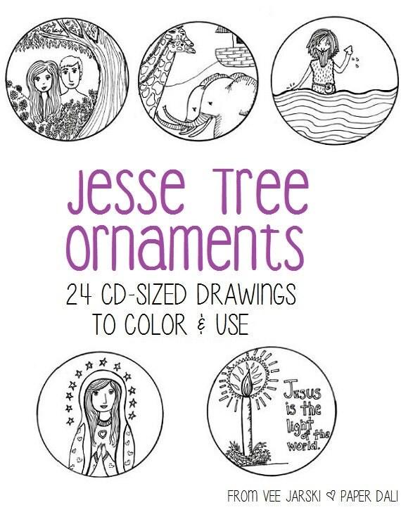 jesse tree symbols coloring pages - photo#27