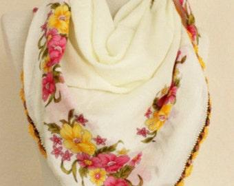 Turkish scarf Yemeni scarf Square Scarf authentic scarves hijab scarf muslim hijab elegant handmade scarves