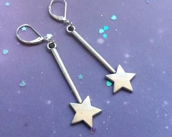 Magic Star wand earrings