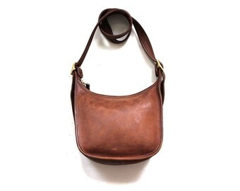 Vintage Coach Bag / Whiskey Leather Coach Purse / Coach Janice Legacy Bag