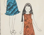 "Vintage Polynesian Pattern 198 Momi Hawaiian Girls Dress Size 10 28.5"" Chest Free US Shipping"