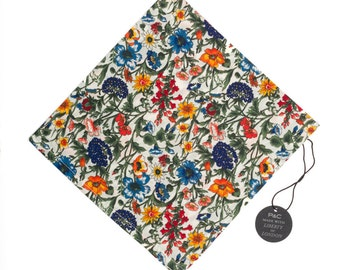 Pomp & Ceremony Pocket Square handkerchief Liberty of London Rachel