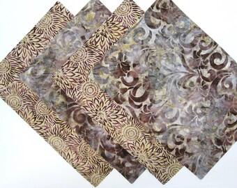 Fall Placemats - Batik - Reversible Placemats - Autumn Placemats - Modern Placemats  -  Set of 4