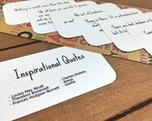 Inspirational Quote Cards, Inspiring Quotes, Party Favor, Enclosure Cards, You Can Do It, Desk Accessories - Set of 8 Mini Quote Cards