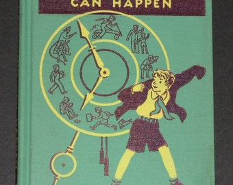 1940 Anything Can Happen - stories about David - 1st grade Alice and Jerry parallel first reader - VG - NICE