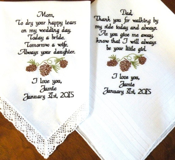 Cone Wedding Gift Mom and Dad Pine-cones Rustic Gift Wedding Gifts ...