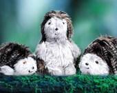 Hedgehog Family Daddy Hedgehog Mommy Hedgehog Baby Hedgehog Saving UK Hogs Campaign Black and White Fleck Companion Toy Christmas Present