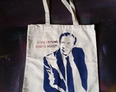 SALE Ready 2 Ship Law and Order tote bag Lennie Briscoe stencil and spray paint art by Rainbow Alternative on Etsy