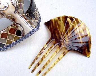 Art Deco hair comb celluloid faux tortoiseshell decorative comb hair accessory hair jewelry hair ornament