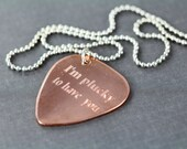 Personalized Guitar Pick Necklace, Custom Engraved Gift for Him, Unique Gift Idea