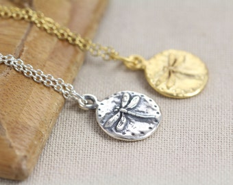 Dragonfly Necklace Gold or 925 Sterling Silver Dragonfly Charm