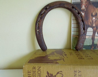 Old Rusty Horse Shoe, Authentic Metal Shoe, Rustic Decor, Equestrian Collectible, Hand Forged