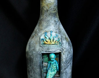 Baby Mermaid in a Bottle
