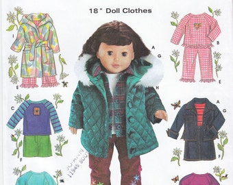 Simplicity Crafts 5733 Sewing Pattern Wardrobe for 18 Inch Dolls