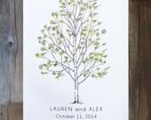 Thumbprint Guest Book, Wedding Guest Book Alternative, Fingerprint tree, Medium Birch Tree, thumbprint tree, Rustic Wedding, family tree