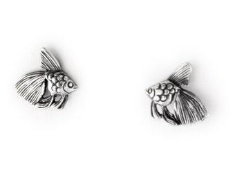 Goldfish Sterling Silver Post Earrings