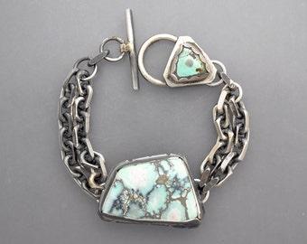 Lander Blue Turquoise Chain Bracelet