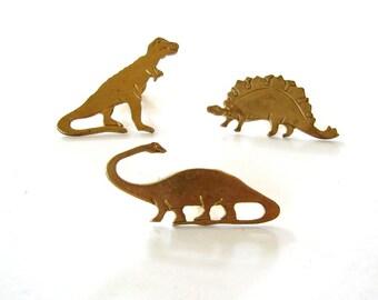 dinosaur tie tack . stegosaurus lapel pin . brontosaurus pin brooch, dinosaur jewelry, brontosaurus tie tack, stegosaurus tie tack, trex pin