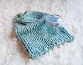 Mini Blanket and Headband, Beautiful Newborn Photography Prop, Posing Blanket