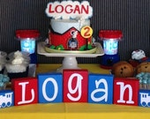 Train Nursery Decor Decoration - Train Baby Shower - Thomas the Train Birthday Party - Train Name Centerpiece - Personalized Baby Gift Sign