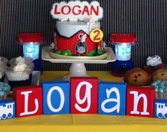 Train Nursery Decor Decoration - Train Baby Shower - Train Birthday Party - Train Name Centerpiece - Personalized Baby Gift Sign