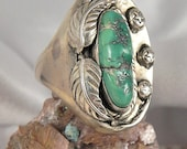 Native American Men's Turquoise Sterling Silver Ring