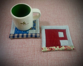 Mug Coaster, small mug rug, quilted coffee or tea coaster, drink mat, candle mat