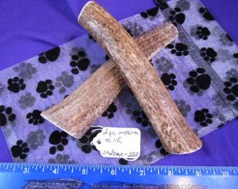 2 Piece Medium Elk Deer Antler Dog Chews for Heavy Chewers , ja2pme-232