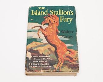 The Island Stallion's Fury Book, HC/DJ, Dust Jacket, Vintage 60s