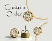 Custom Order: Seed Pod Necklace, Bracelet and Earrings - Wedding Jewelry
