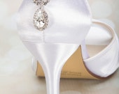 Wedding Shoes - Crystal Bridal Shoes - Choose From Over 200 Colors - Choose Your Heel Size - Romantic Wedding Shoe - Bespoke Custom Shoes