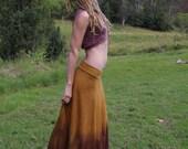 RESERVED Size S/M Hemp Jersey Long Poppy Skirt