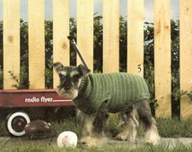 vintage crochet pattern dog puppy basic sweater coat 1970 printable PDF instant download 12 Sizes Included